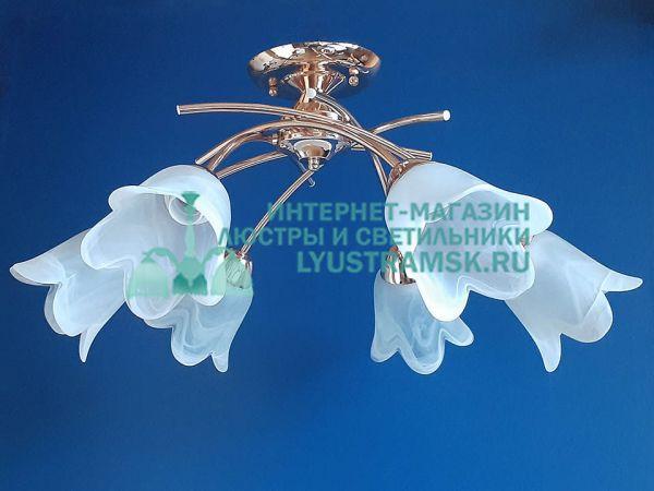 Люстра потолочная TinKo ЛС 716 на 6 рожков, золото