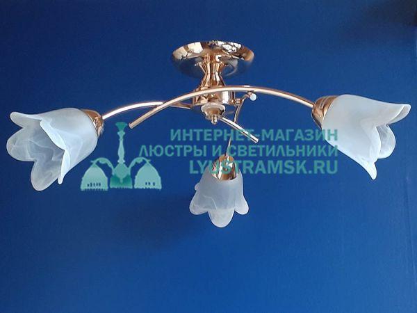 Люстра потолочная TinKo ЛС 716 на 3 рожка, золото