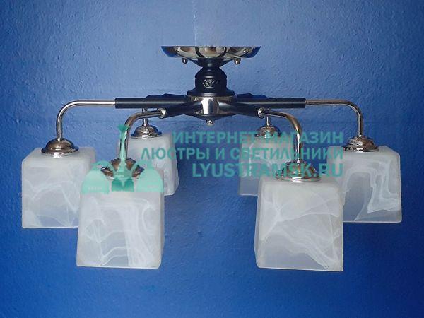 Люстра потолочная TinKo ЛС 789 на 6 рожков, венге, хром